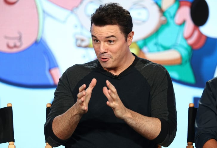 Creator/executive producer Seth MacFarlane of the television show Family Guy speaks onstage during the FOX portion of the 2018 Winter Television Critics Association Press Tour at The Langham Huntington, Pasadena on January 4, 2018 in Pasadena, California