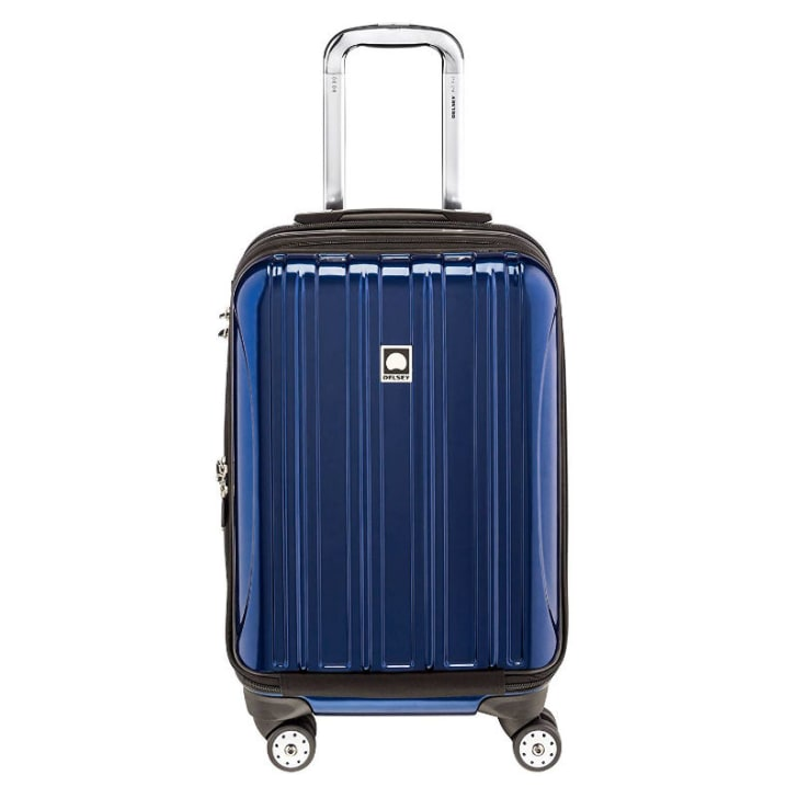 A piece of Delsey Helium Aero luggage is pictured