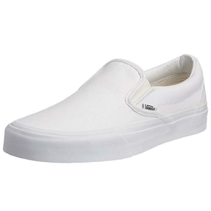 A Vans unisex slip-on shoe is pictured