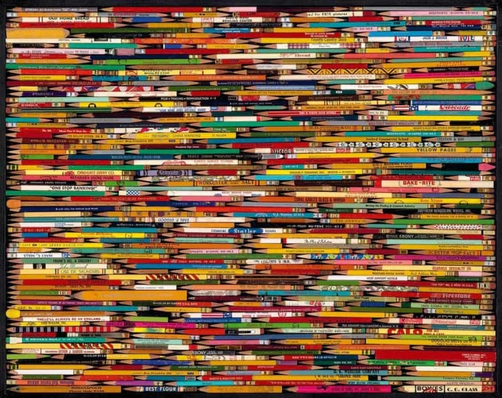 An image of dozens of pencils laid side by side
