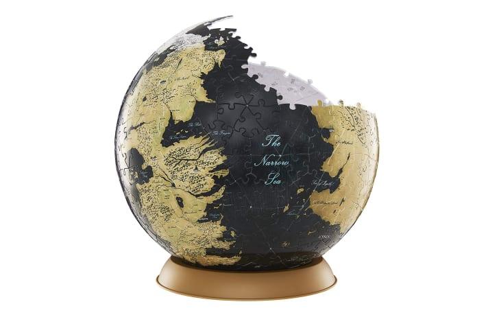A 3D puzzle shaped like a globe
