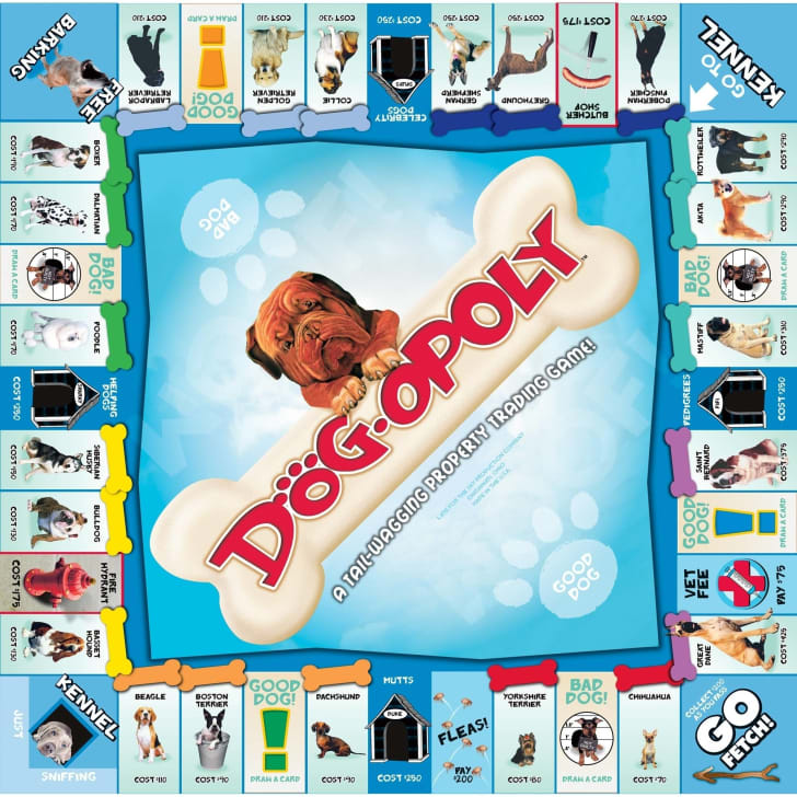Board of Dog-opoly game.
