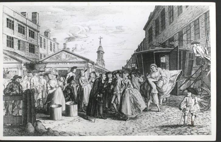 An 18th Century Fleet Wedding—a marriage performed without banns or license at the Fleet Prison, London by unprincipled clerics