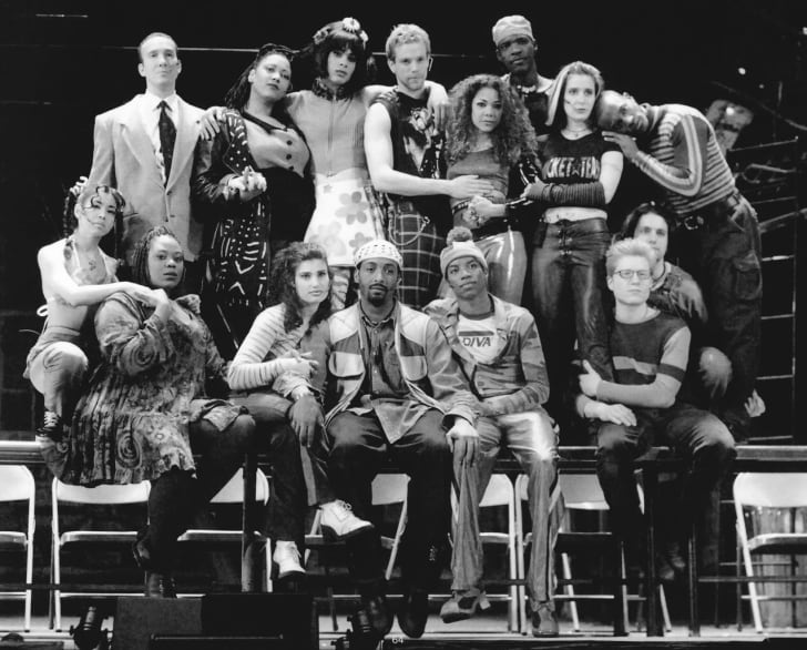 The original Broadway cast of Rent from 1996