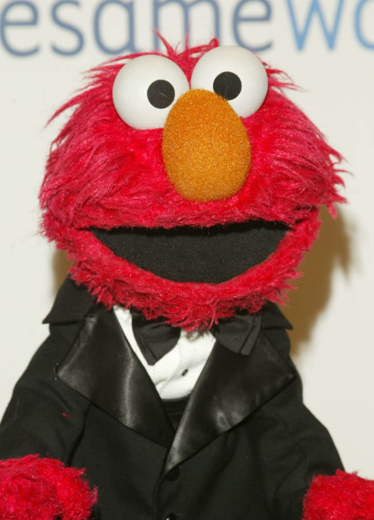Elmo wears a tuxedo during a public appearance
