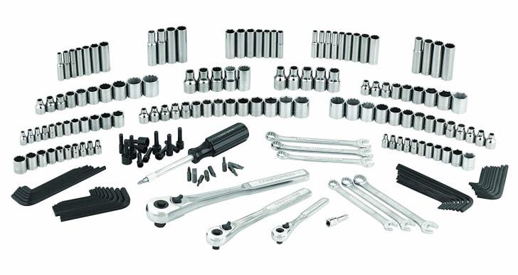 A 193-piece tool set