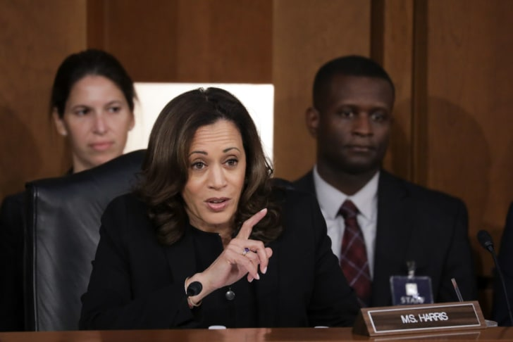 Senator Kamala Harris during Supreme Court nominee Brett Kavanaugh's confirmation hearings in 2018
