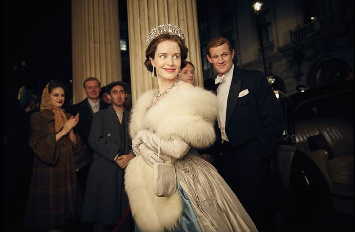 Matt Smith and Claire Foy in The Crown