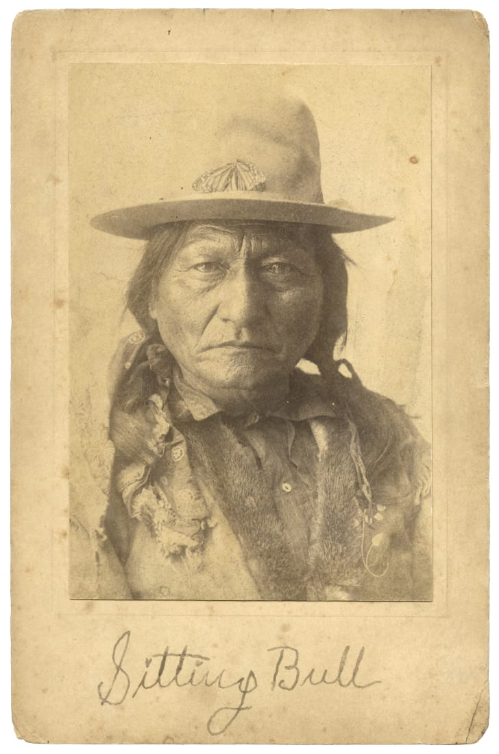 A signed picture of Sitting Bull