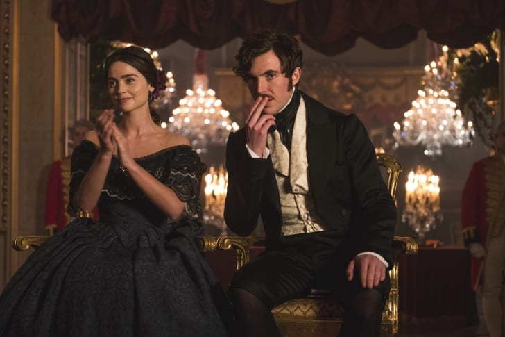 Jenna Coleman and Tom Hughes in 'Victoria'