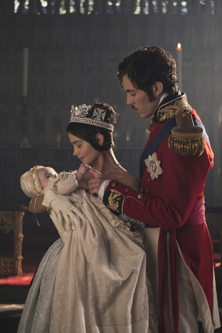 JENNA COLEMAN as Victoria and TOM HUGHES as Albert in 'Victoria'