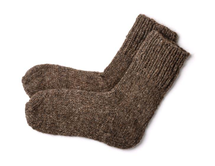 Brown woolen socks