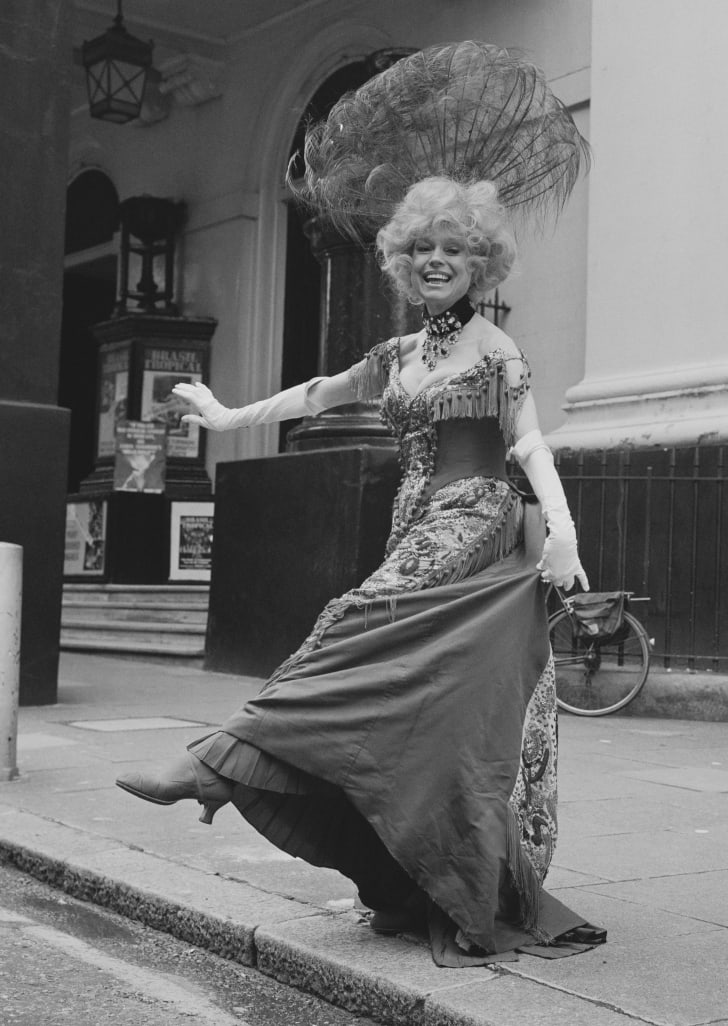 Carol Channing in her 'Hello, Dolly!' costume in 1979.