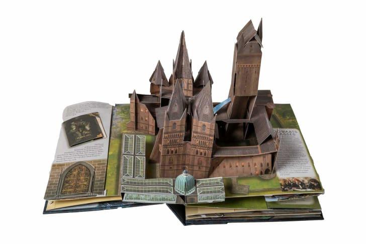 A pop-up paper version of Hogwarts