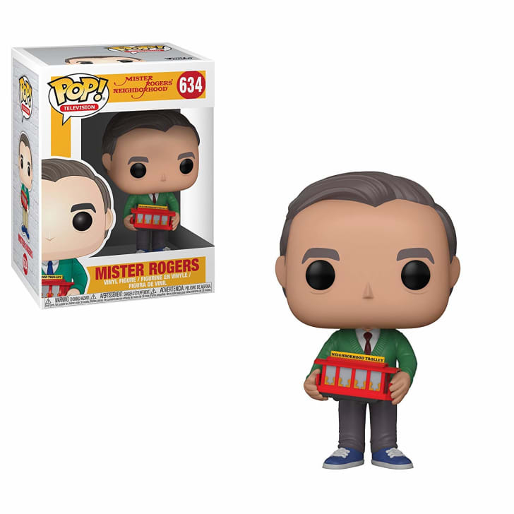 A Mister Rogers figurine