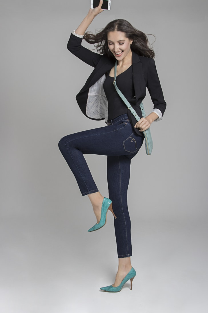 A woman models Radian jeans