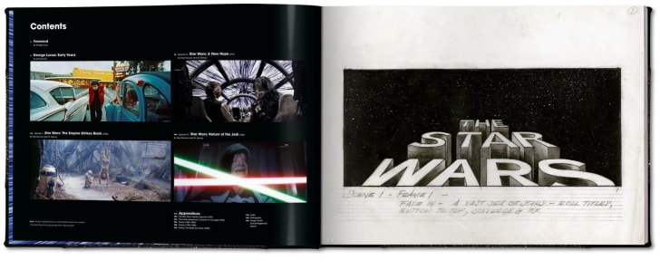 The contents page from The Star Wars Archives: 1977–1983