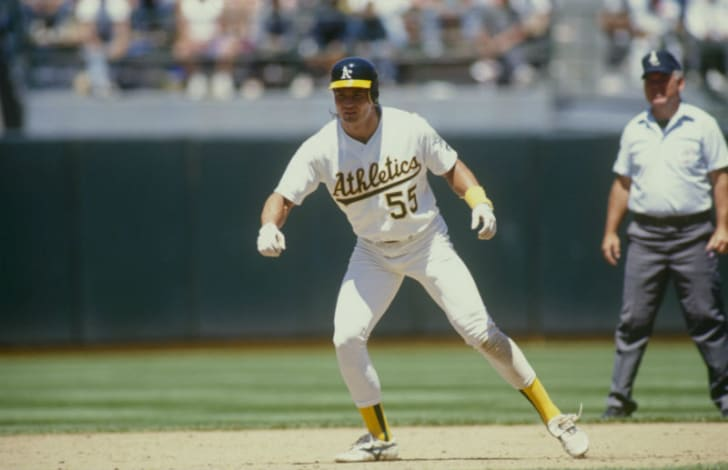 Ozzie Canseco plays for the Oakland Athletics in a Major League Baseball game