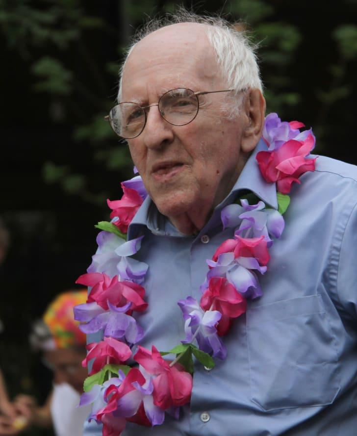 Frank Kameny attending Pride on June 12, 2010