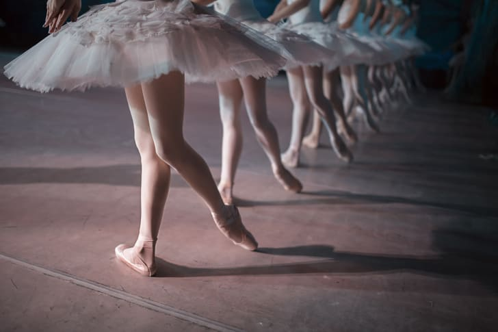 Ballet dancers in white tutus
