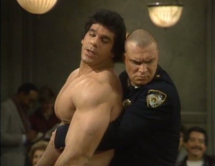 Lou Ferrigno and Richard Moll in Night Court