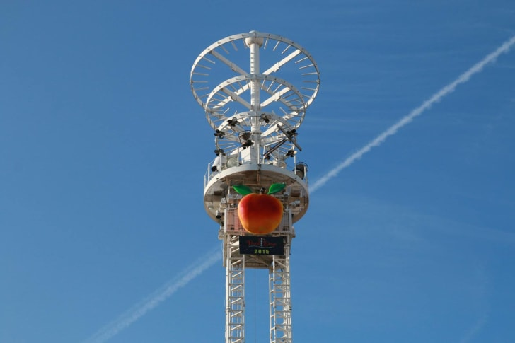 Atlanta's peach drop.