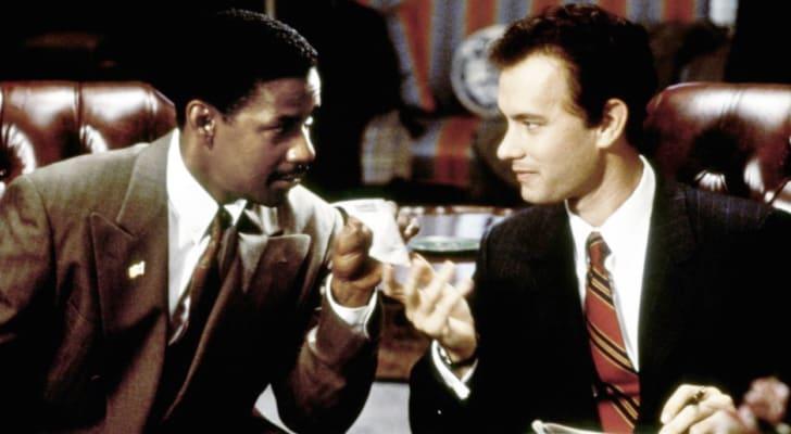 Tom Hanks and Denzel Washington in Philadelphia (1993)
