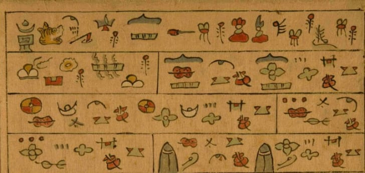 The Dongba script