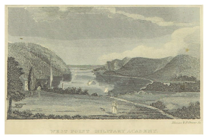 A vintage post card of West Point