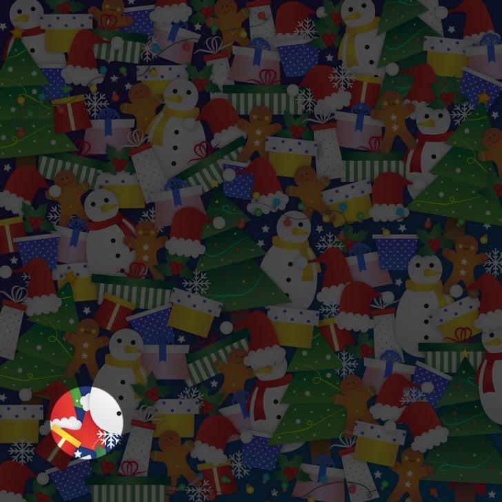 Você consegue identificar a meia de Natal neste quebra-cabeça de imagens ocultas?