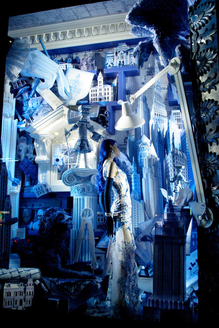 A Bergdorf Goodman holiday window in 2014