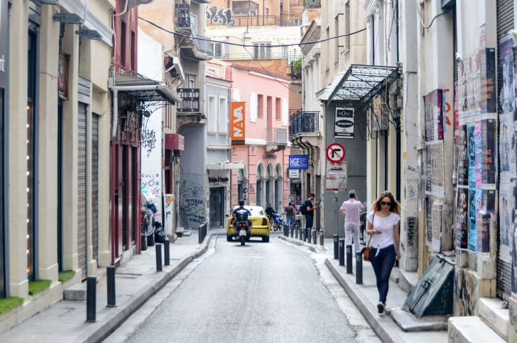 A street in Athens, Greece