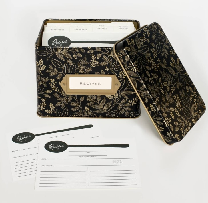 The Rifle and Paper Co. Queen Anne recipe box