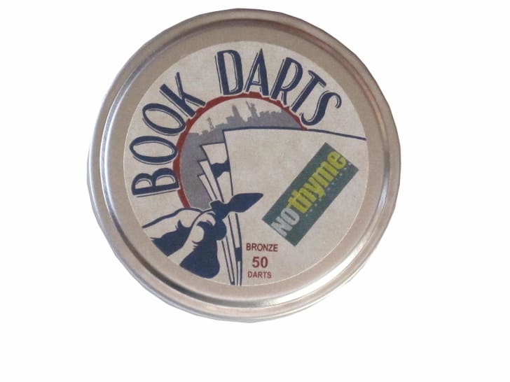 Container of book tabs.