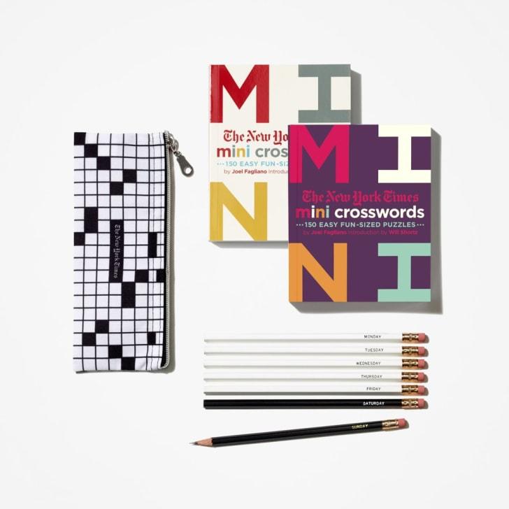 New York Times crossword puzzle set.