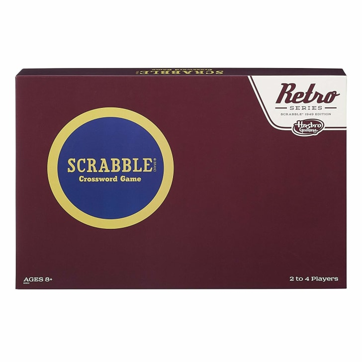 Box of retro Scrabble game.