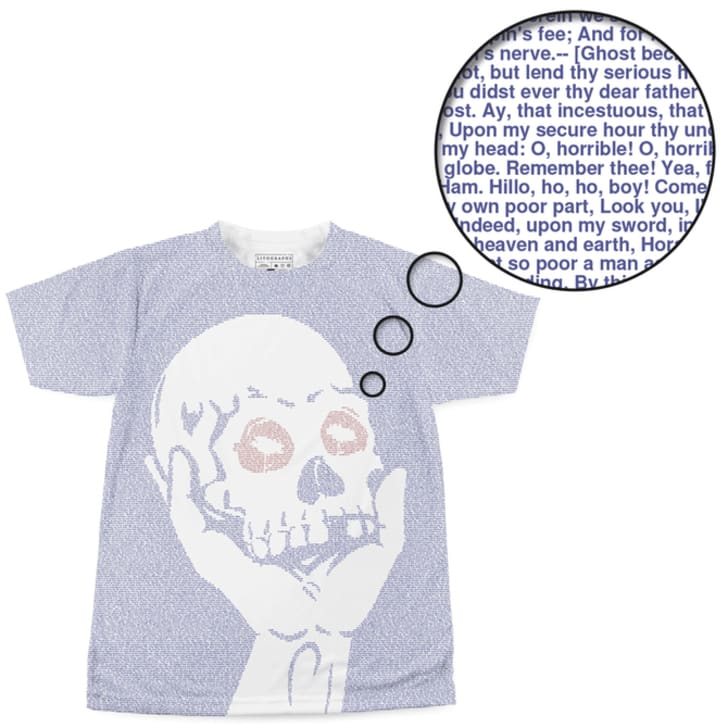 A T-shirt with a skull on it