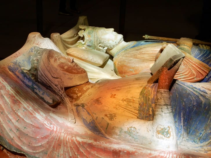 Tombs of Eleanor of Aquitaine and Henry II of England in the church at Fontevraud Abbey