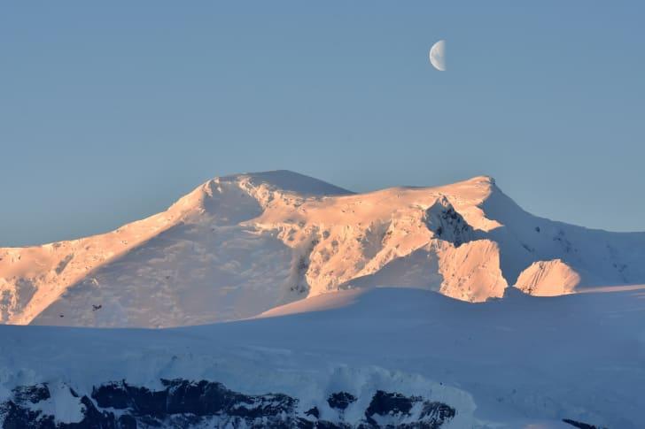 moonrise in Antarctica
