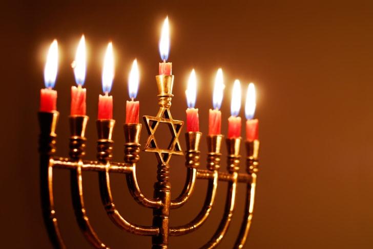 Star of David menorah