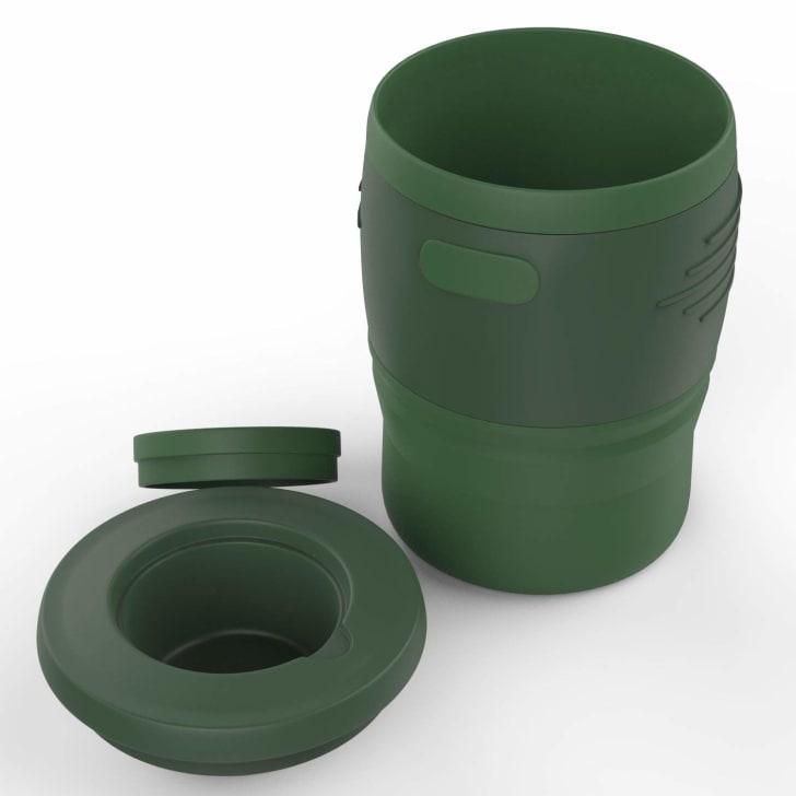 Collapsible travel mug.