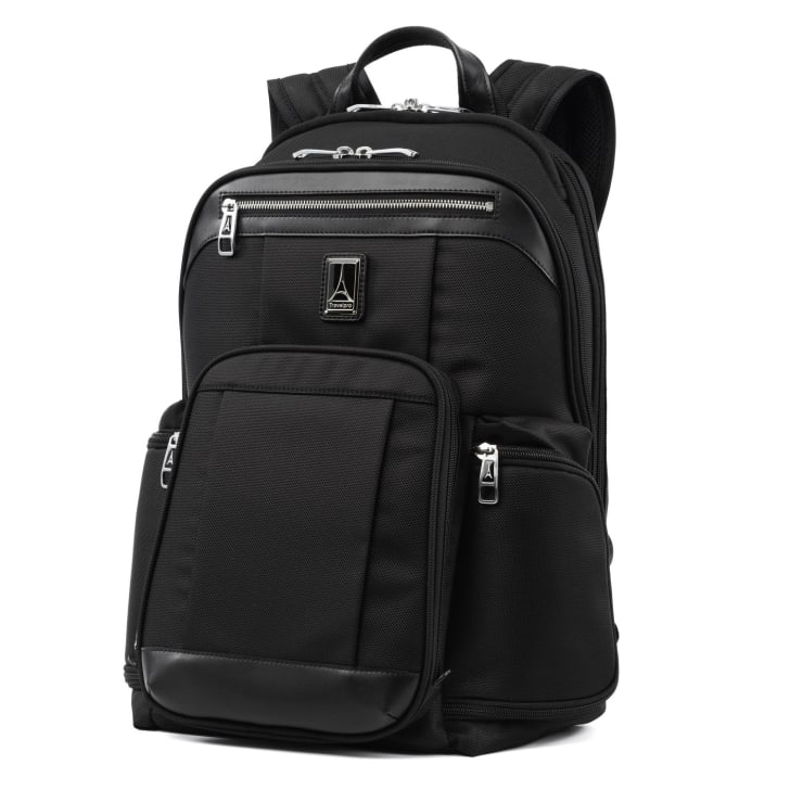 Backpack with pockets.