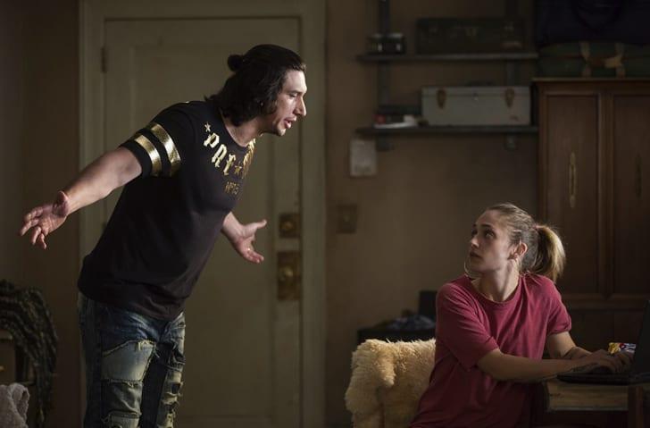 Adam Driver and Jemima Kirke in 'Girls'