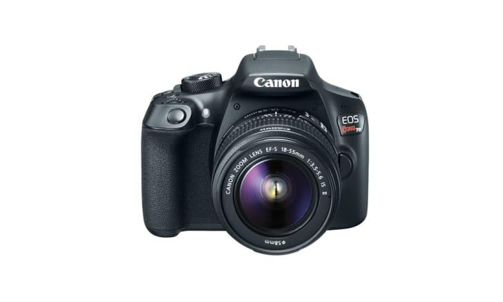 A Canon Rebel DSLR