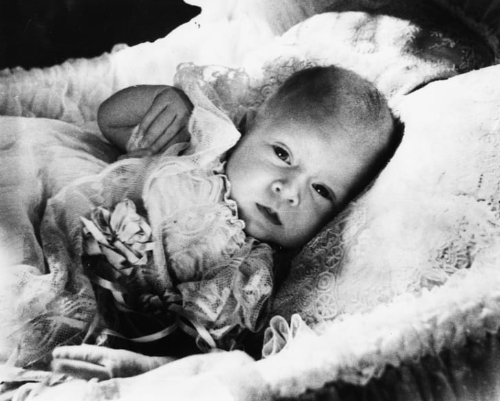 A childhood portrait of baby Prince Charles, January 1949.