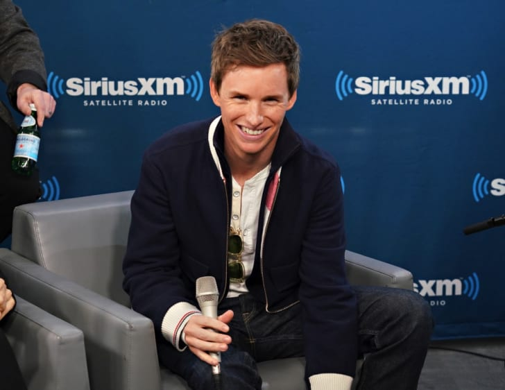 Actor Eddie Redmayne takes part in SiriusXM's Town Hall with the cast of 'Fantastic Beasts:The Crimes Of Grindelwald' on Entertainment Weekly Radio hosted by Jess Cagle at the SiriusXM Studio on November 5, 2018 in New York City
