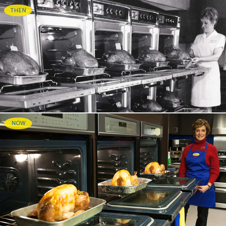 """""""Then and now"""" photos of Butterball's kitchen"""