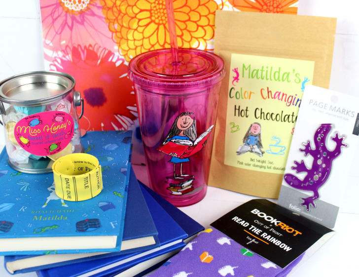 The book Matilda with related merchandise