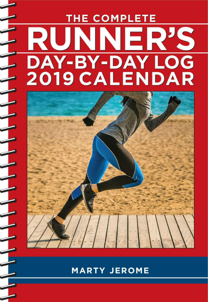 A look at the front cover of the Runner's Log 2019 calendar