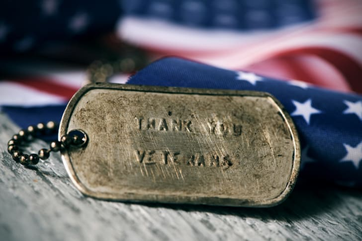 military dog tag that says
